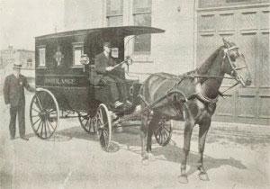 Qual foi a primeira ambulância?